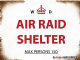 Air Raid Shelter fridge magnet  (og)